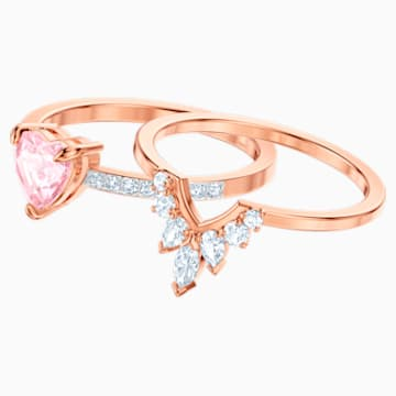 One Set, Multi-colored, Rose-gold tone plated - Swarovski, 5474937