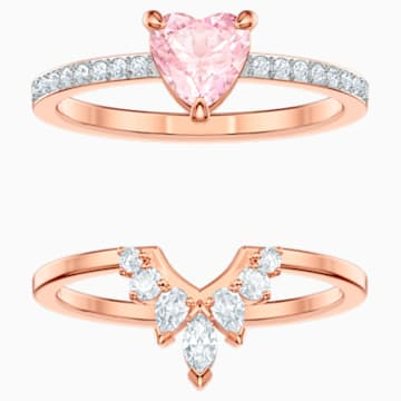 One Set, Multi-colored, Rose-gold tone plated - Swarovski, 5474940