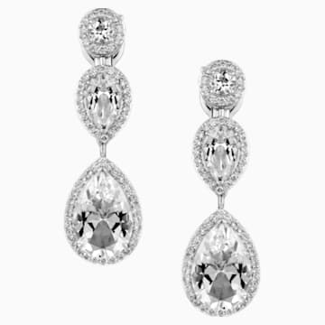 Lola Tear Drop Earrings, Swarovski Genuine Topaz & Swarovski Created Diamonds, 18K White Gold - Swarovski, 5476750