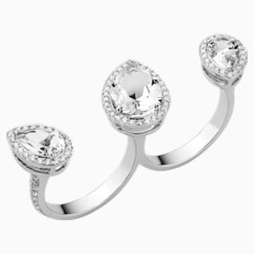 Lola Double Ring, 18K White Gold, Size 52 - Swarovski, 5476753