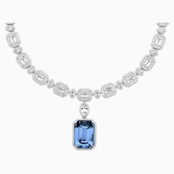 Ángel Necklace, Swarovski Created Sapphire, 18K White Gold - Swarovski, 5476768