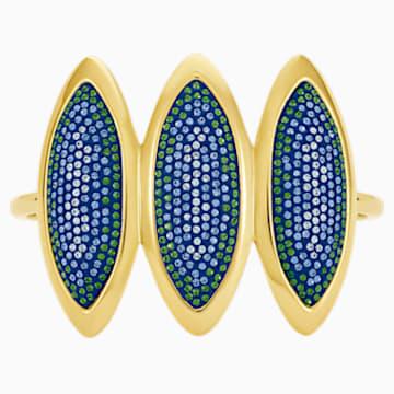Manchette Evil Eye, bleu, métal doré - Swarovski, 5477548