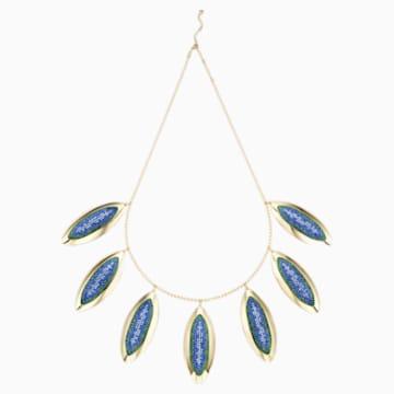 Collier magistral Evil Eye, large, bleu, métal doré - Swarovski, 5477552