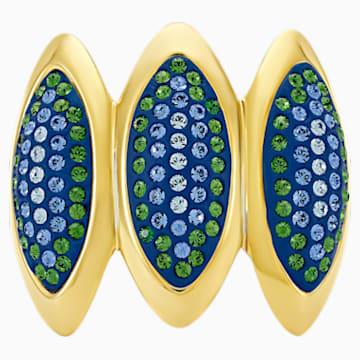 Anello cocktail Evil Eye, blu, placcato color oro - Swarovski, 5477555