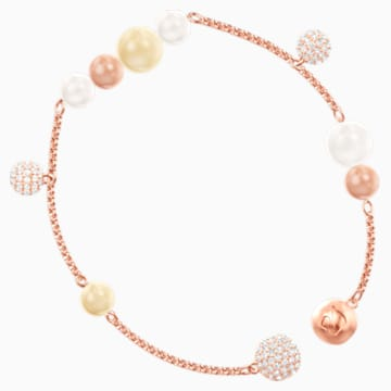 Swarovski Remix Collection Pearl Strand, multicolore, Métal doré rose - Swarovski, 5479007