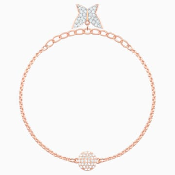 Swarovski Remix Collection Lilia Strand, White, Rose-gold tone plated - Swarovski, 5479014