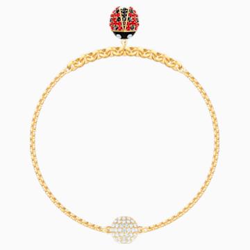 Swarovski Remix Collection Ladybug Strand, Многоцветный Кристалл, Покрытие оттенка золота - Swarovski, 5479016
