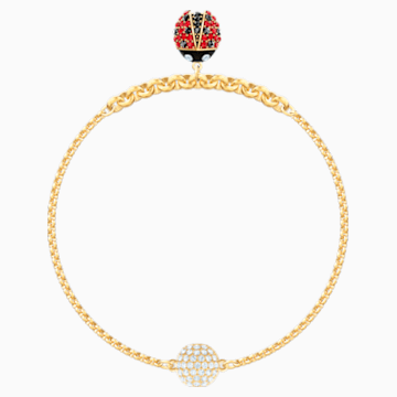Swarovski Remix Collection Ladybug Strand, Multi-coloured, Gold-tone plated - Swarovski, 5479016
