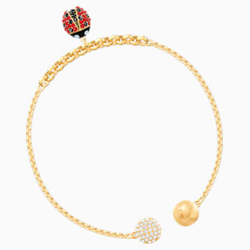 Swarovski Remix Collection Ladybug Strand, Multi-colored, Gold-tone plated - Swarovski, 5479016
