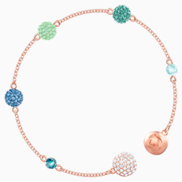 Swarovski Remix Collection Pop Strand, Green, Rose-gold tone plated - Swarovski, 5479019