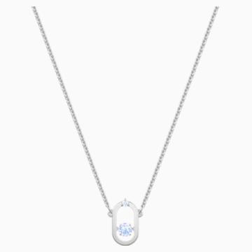 Collar Sparkling Dance, azul, Baño de Rodio - Swarovski, 5479118