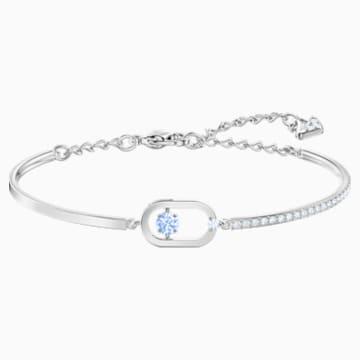 Bracelet Sparkling Dance, bleu, Métal rhodié - Swarovski, 5479120