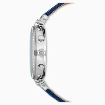 Hodinky Era Journey s koženým páskem, modré, nerezová ocel - Swarovski, 5479239