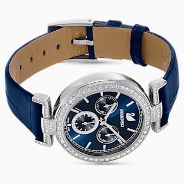 Orologio Era Journey, Cinturino in pelle, azzurro, acciaio inossidabile - Swarovski, 5479239