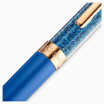 Penna a sfera Crystalline, azzurro, Placcato oro rosa - Swarovski, 5479547