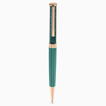 Crystalline Ballpoint Pen, Green, Rose-gold tone plated - Swarovski, 5479562