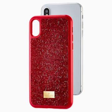 Custodia per smartphone Glam Rock, iPhone® X/XS, rosso - Swarovski, 5479960