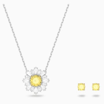 Sunshine Set, White, Mixed metal finish - Swarovski, 5480464