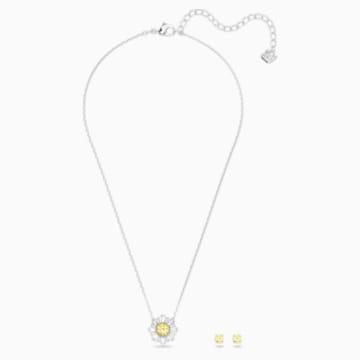 Conjunto Sunshine, blanco, Combinación de acabados metálicos - Swarovski, 5480464