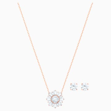 Set Sunshine, bianco, Placcato oro rosa - Swarovski, 5480468