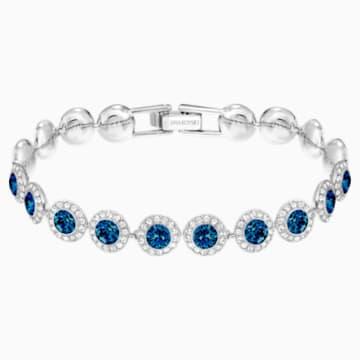 Bracelet Angelic, bleu, Métal rhodié - Swarovski, 5480484