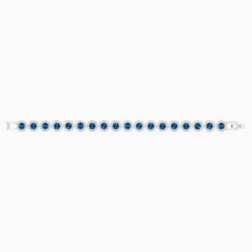 Pulsera Angelic, azul, Baño de Rodio - Swarovski, 5480484