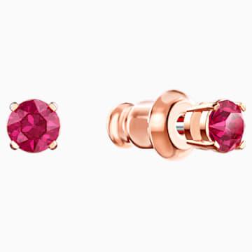 Parure Swarovski Sparkling Dance Round, rouge, Métal doré rose - Swarovski, 5480494