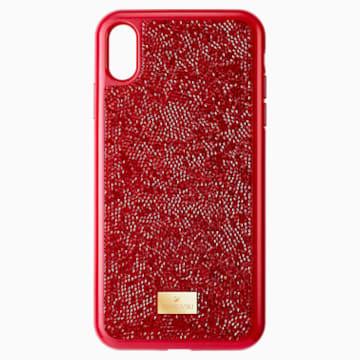 Pouzdro na chytrý telefon Glam Rock, iPhone® XS Max, červené - Swarovski, 5481454