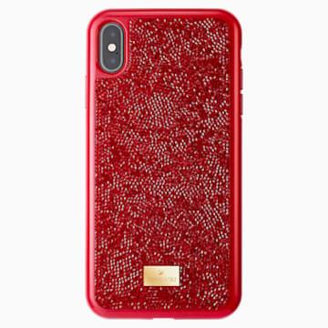 Glam Rock okostelefon tok, iPhone® XS Max, piros - Swarovski, 5481454
