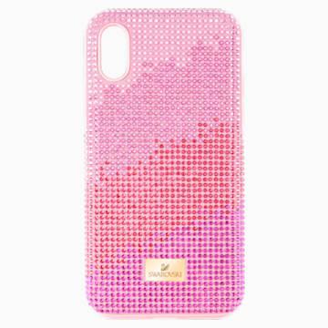 Custodia per smartphone con bordi protettivi High Love, iPhone® XS Max, rosa - Swarovski, 5481464