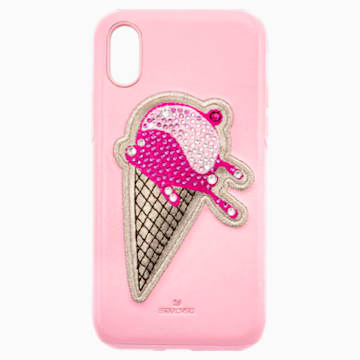 No Regrets Ice Cream Smartphone case with integrated Bumper, iPhone® XR, Pink - Swarovski, 5481528