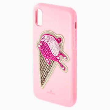 No Regrets Ice Cream Smartphone Case with integrated Bumper, iPhone® XS Max, Pink - Swarovski, 5481544