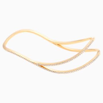 Arc-en-ciel Palm Cuff, Swarovski Created Diamonds, 18K Yellow Gold - Swarovski, 5481736