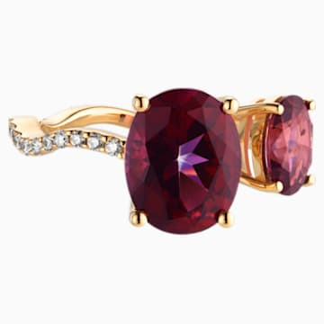 Arc-en-ciel Ring, Blazing Red Topaz, 18K Yellow Gold, Size 52 - Swarovski, 5481746