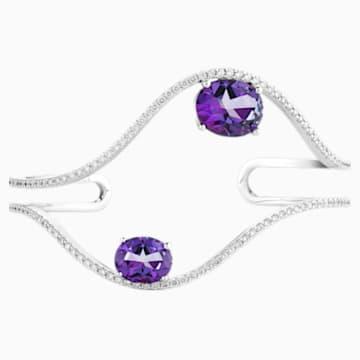 Arc-en-ciel Cuff, Violac Treated Swarovski Genuine Topaz & Swarovski Created Diamonds, 18K White Gold - Swarovski, 5481752