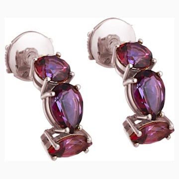Arc-en-ciel Earrings, Blazing Red Treated Swarovski Genuine Topaz, 18K Rose Gold - Swarovski, 5481765