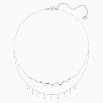 Mayfly Necklace, White, Rhodium plated - Swarovski, 5482078