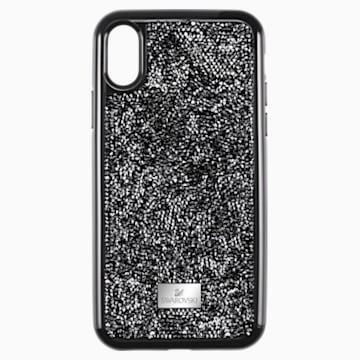 Etui na smartfona Glam Rock z ramką chroniącą przed uderzeniem, iPhone® XR, czarne - Swarovski, 5482282