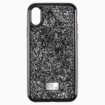 Glam Rock okostelefon tok beépített ütéselnyelővel, iPhone® XR, fekete - Swarovski, 5482282
