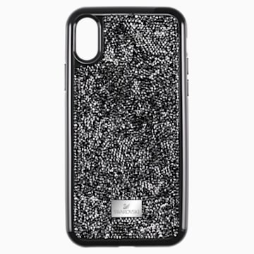 Custodia per smartphone con bordi protettivi Glam Rock, iPhone® XS Max, nero - Swarovski, 5482283