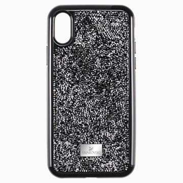 Glam Rock okostelefon tok beépített ütéselnyelővel, iPhone® XS Max, fekete - Swarovski, 5482283