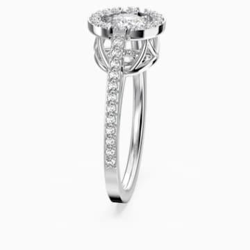 Anello Swarovski Sparkling Dance Round, bianco, Placcatura rodio - Swarovski, 5482500