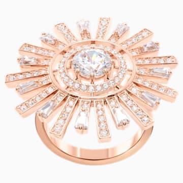 Sunshine Cocktail 戒指, 白色, 鍍玫瑰金色調 - Swarovski, 5482501