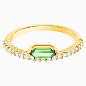 Oz 戒指, 白色, 镀金色调 - Swarovski, 5482507