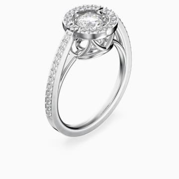 Swarovski Sparkling Dance Round 戒指, 白色, 鍍白金色 - Swarovski, 5482518