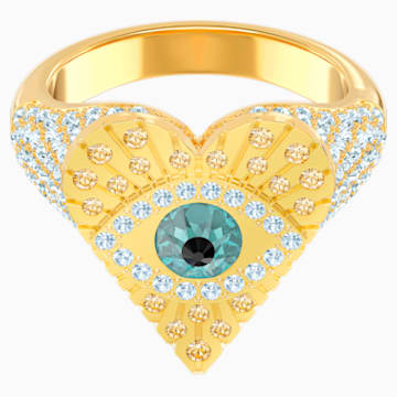 Lucky Goddess Heart Motif Ring, Multi-coloured, Gold-tone plated - Swarovski, 5482528