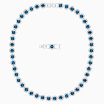 Angelic Necklace, Blue, Rhodium plated - Swarovski, 5482698