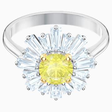 Bague Sunshine, jaune, Métal rhodié - Swarovski, 5482701