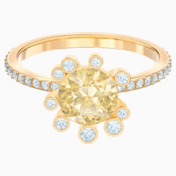 Olive Ring, Multi-coloured, Gold-tone plated - Swarovski, 5482704