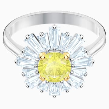 Sunshine Ring, gelb, Rhodiniert - Swarovski, 5482706